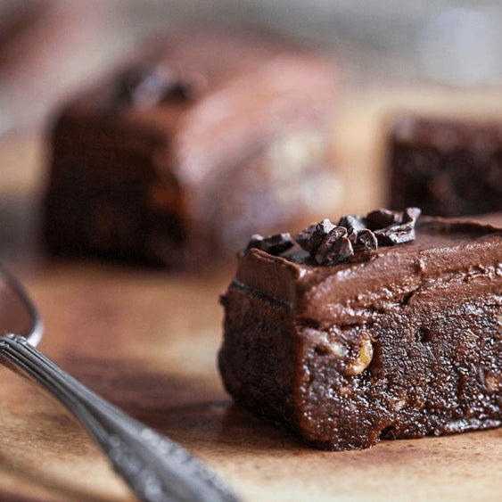 Triple Chocolate Raw Brownies