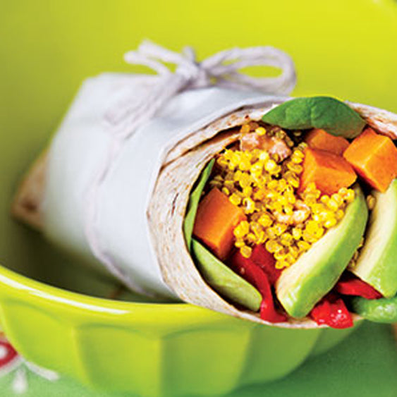 Curry Quinoa Sweet Potato Wraps