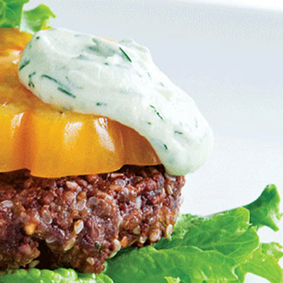 Beet Burgers with Almonaise