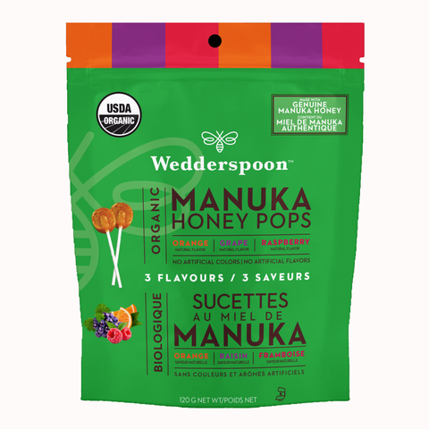 Wedderspoon honey pops 120g