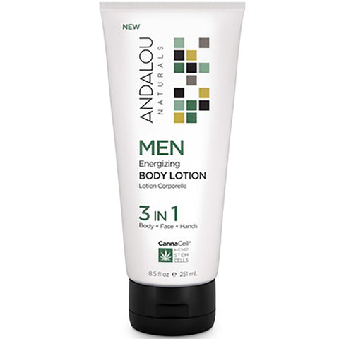 Andalou Naturals Men's 3 in 1 Energizing Body Lotion