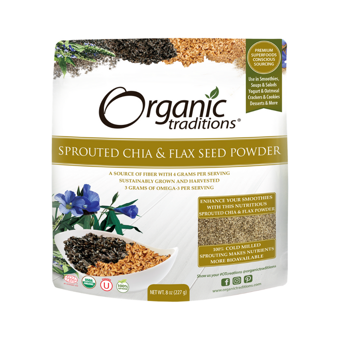Organic Traditions Sprouted Chia and Flax 227g