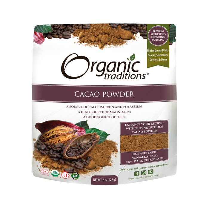 Organic Traditions Organic Cacao Powder 227g