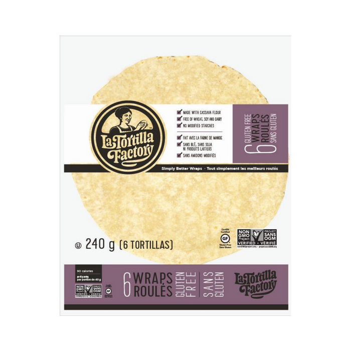 La Tortilla Factory Cassava Wraps 240g