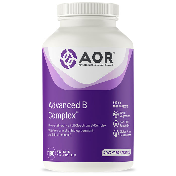 AOR Advanced B Complex  180 vcaps Best Buy
