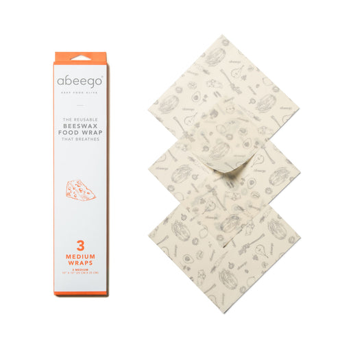 Abeego Beeswax Food Wraps Medium 10x10