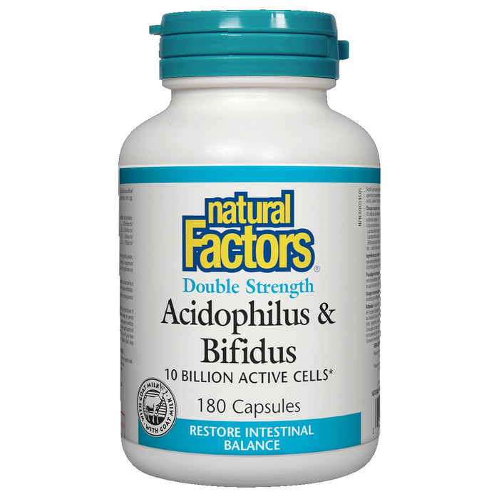 Natural Factors Probiotic Double Strength Acidophilus & Bifidus 180 capsules Best Buy
