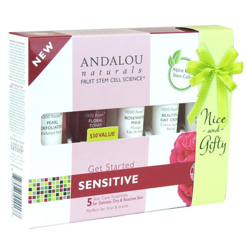 Andalou Naturals Get Started Sensitive Skin Care Kit