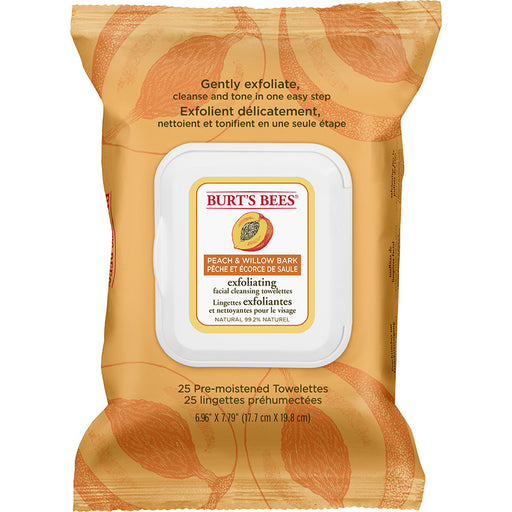 Burt's Bees Peach & Willowbark Exfoliating Towelettes