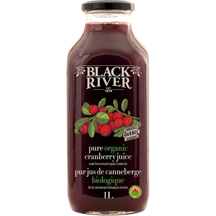 Black River Juice Pure Organic Cranberry 1L