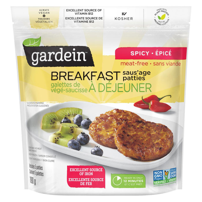 Gardein Breakfast Saus'age Patties Spicy 190g