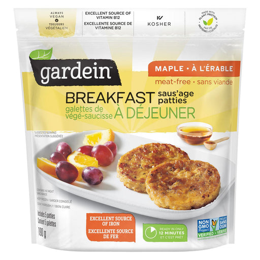 Gardein Breakfast Saus'age Patties Maple 190g