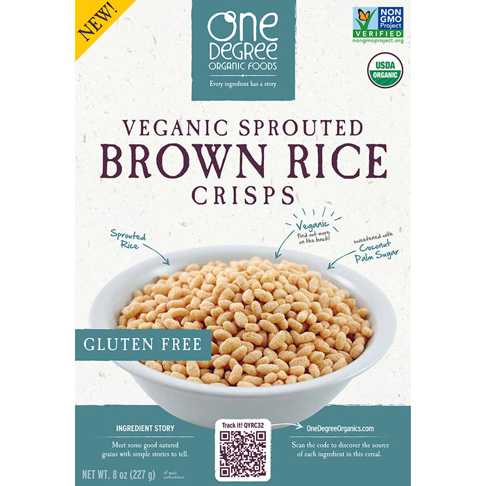 One Degree Vegan Sprouted Brown Rice Crisps