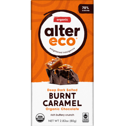 Alter Eco Burnt Caramel Dark Chocolate Bar