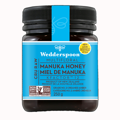 Wedderspoon Raw Premium Manuka Honey KFacter 12 250 Grams