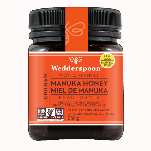 Wedderspoon Raw Premium Manuka Honey KFactor 16 250g