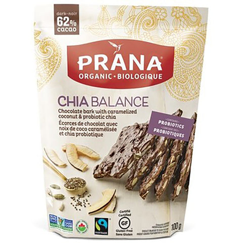 Prana Chia Balance Chocolate Bark 100g