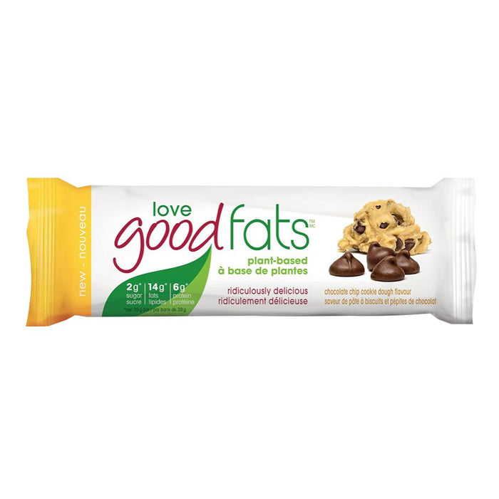 Love Good Fats Chocolate Chip Cookie Dough Plant Based Single Bar