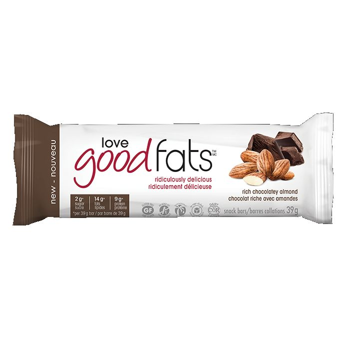 Love Good Fats Rich Chocolatey Almond Single Bar