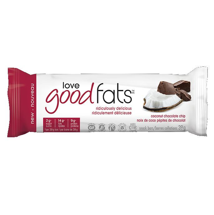 Love Good Fats Coconut Chocolate Chip Single Bar