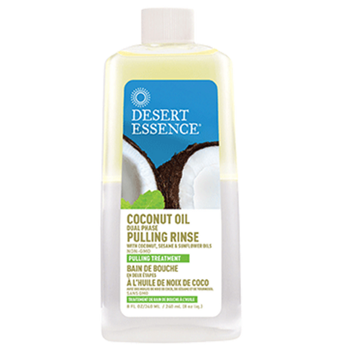 Desert Essence Coconut Oil Dual Phase Pulling Rinse