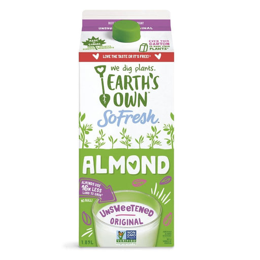 Earth's Own Unsweetened Almond Fresh Beverage 1.89L