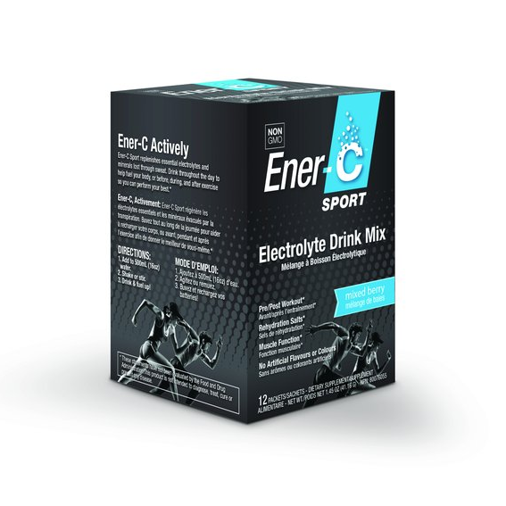 Ener C Sport Electrolyte Drink Mix 12 Pack