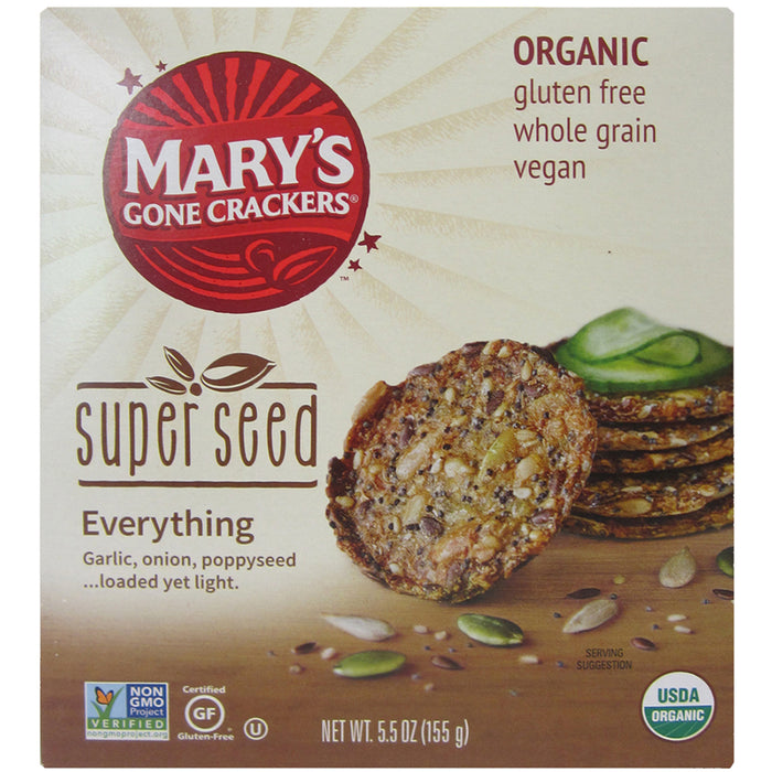 Mary's Super Seed Crackers Everything