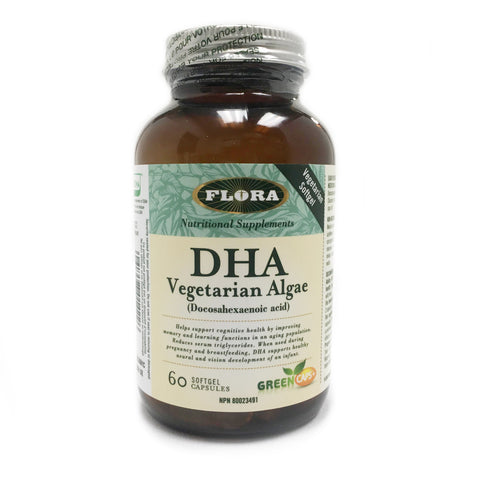 Flora: DHA Vegetarian Algae 60 softgels