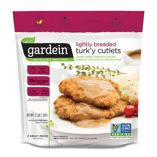 Gardein Lightly Breaded Turk'y Cutlets 300g