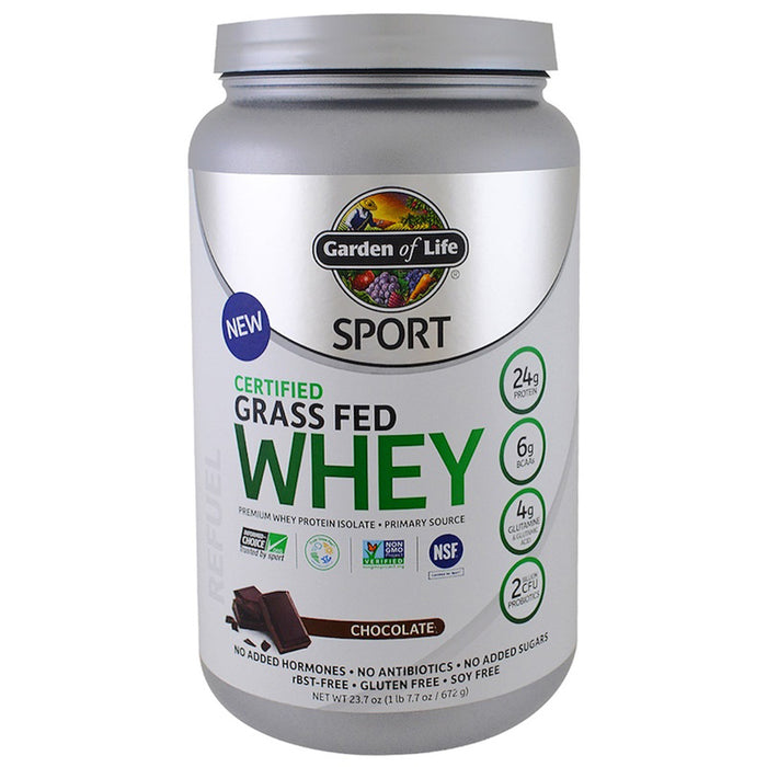 Garden of Life Sport Whey Grass Fed Protein Chocolate 806g