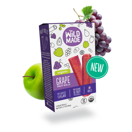 Wild Made Fruit Rolls Apple Grape 60g