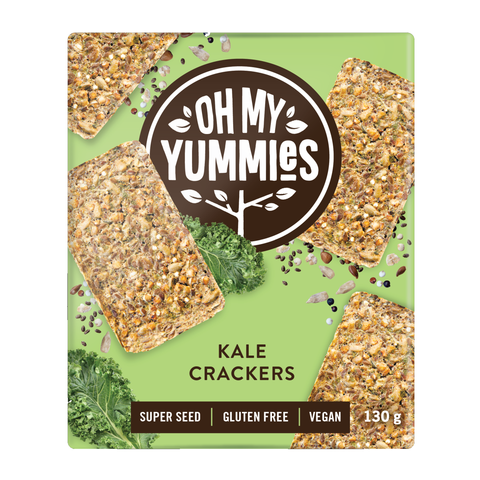 Oh My Yummies: GF Kale Crackers