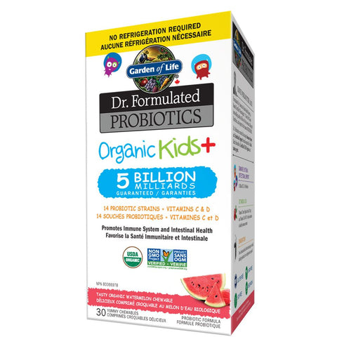 Dr. Formulated Probiotics Organic Kids+ 5 Billion 30 caps: Garden of Life