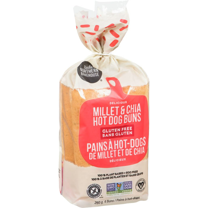 Little Northern Bakehouse Millet & Chia Hot Dog Buns 260g