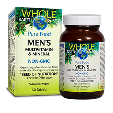 Men's Multivitamin & Minerals 60 caps: Whole Earth & Sea