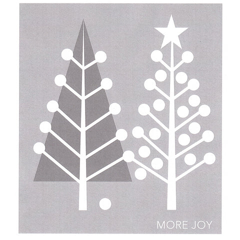 More Joy Dish Cloth Christmas Tree Grey