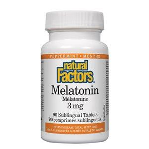 Natural Factors Melatonin 3mg 90 tabs Peppermint