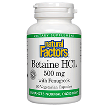Natural Factors Betaine HCL 500mg