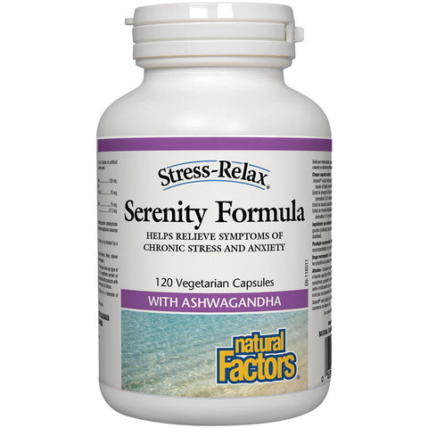 Natural Factors Stress and Relax Serenity formula 120 v-caps