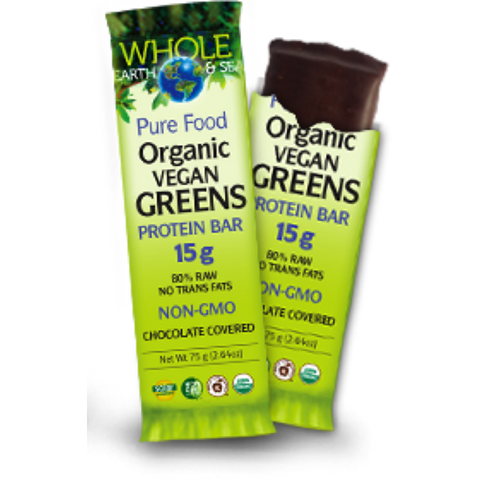 Whole Earth and Sea Vegan Greens Protein Bar at Natural Food Pantry