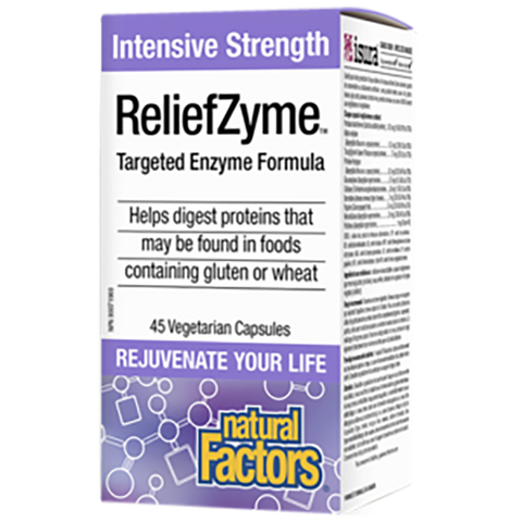 Natural Factors Reliefzyme 45 veggie caps