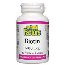Natural Factors Biotin 5000mcg 60 V-Caps