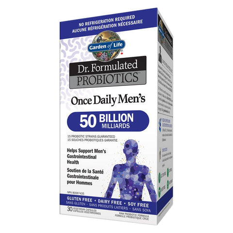 Dr. Formulated Probiotics Once Daily Men's 50 Billion 30 caps: Garden of Life