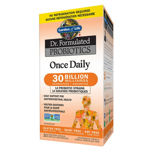 Dr. Formulated Once Daily Probiotic 30 Billion 30 caps: Garden of Life