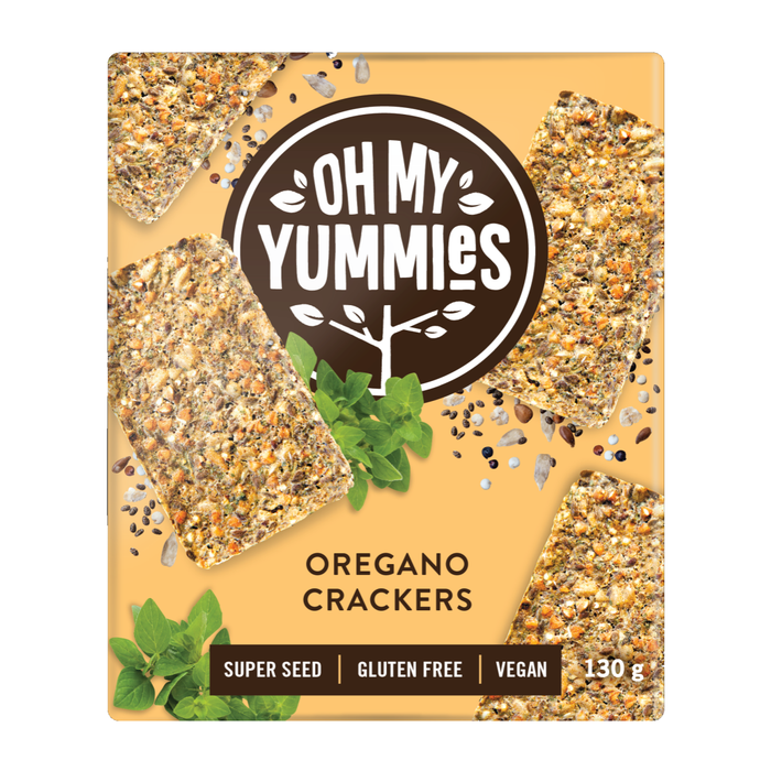 Oh My Yummies: GF Oregano Crackers