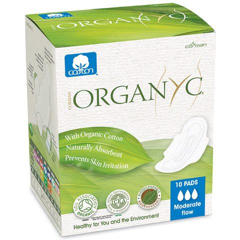 Organ(y)c Pads Moderate Flow 10 wrapped pads