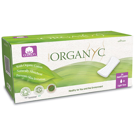 Organ(y)c Panty Liners Light Flow 24 flat count