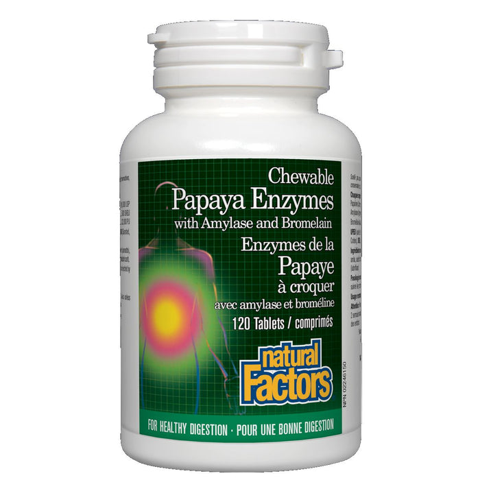 Papaya Enzyme 120 chewable tabs: Natural Factors