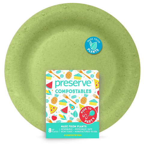Preserve Compostable Plates 8 pack
